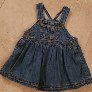 Denim jeans dress overalls 6-9 months
